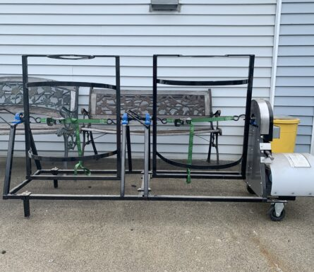 33 gallon Plastica barrel washer with extension